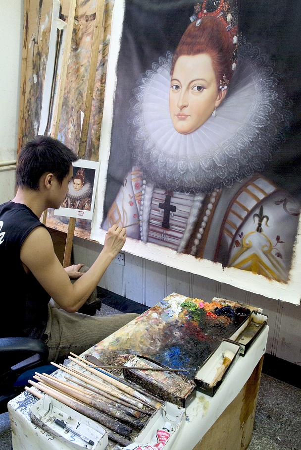 Ocean's Bridge Artist at work