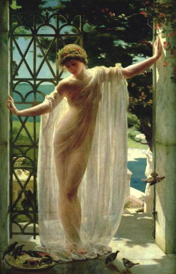 Lesbia | John Reinhard Weguelin | oil painting