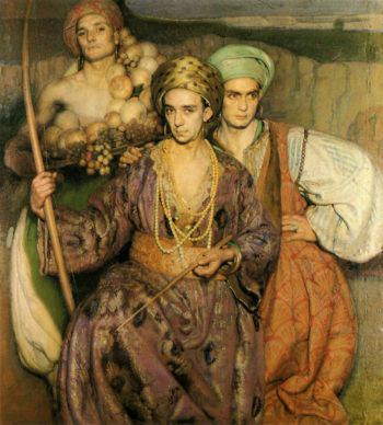 Tres Hombres | Gabriel Morcillo Raya | oil painting