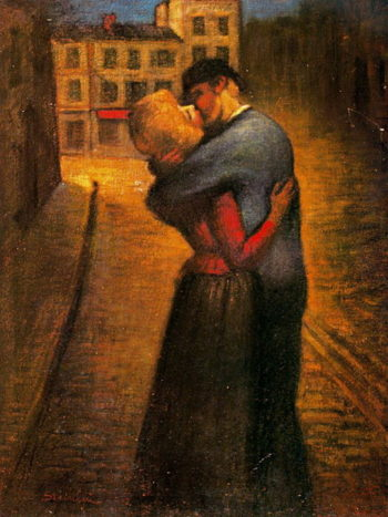 The Kiss | Theophile Alexandre Steinlen | oil painting