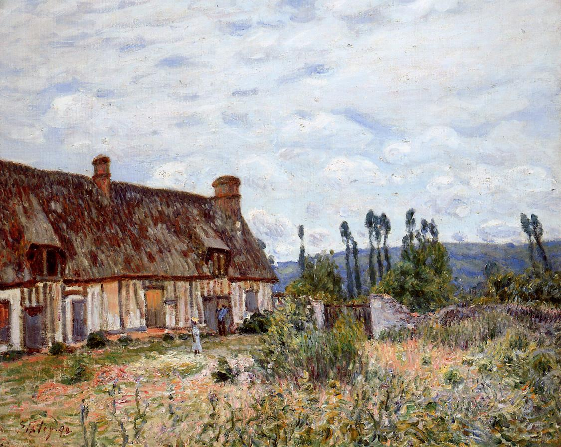 Abandoned Cottage  1894 | Alfred Sisley | Oil Painting