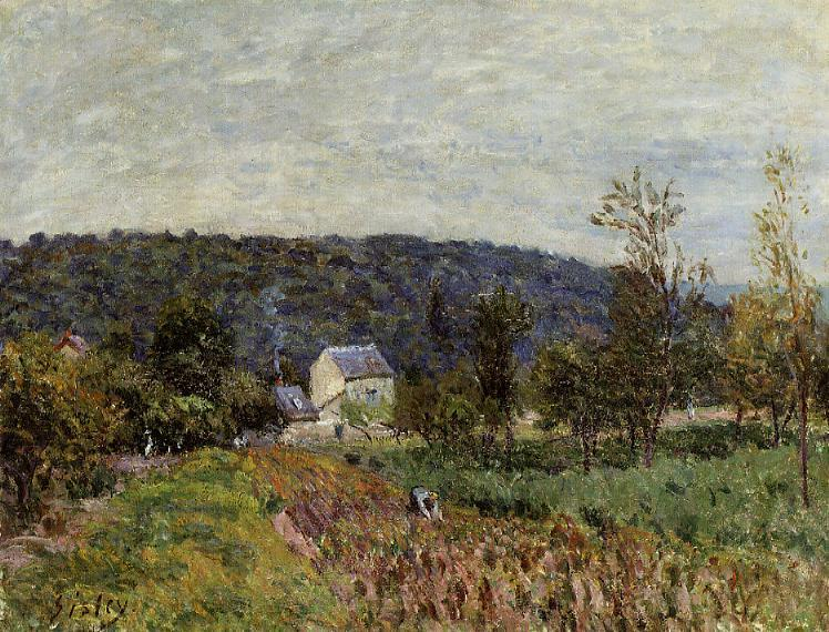 An Autumn Evening near Paris  1879 | Alfred Sisley | Oil Painting