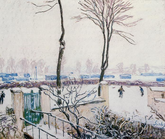 Approach to the Railway Station  1888 | Alfred Sisley | Oil Painting