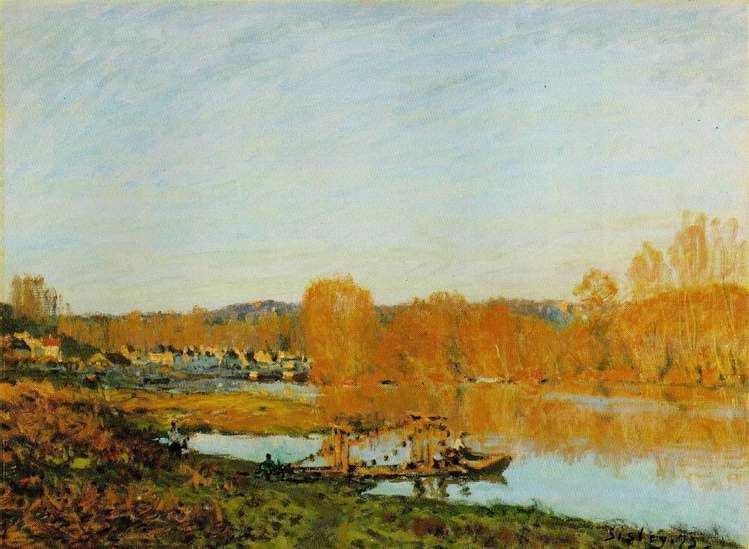 Autumn-Banks of the Seine near Bougival  1873 | Alfred Sisley | Oil Painting