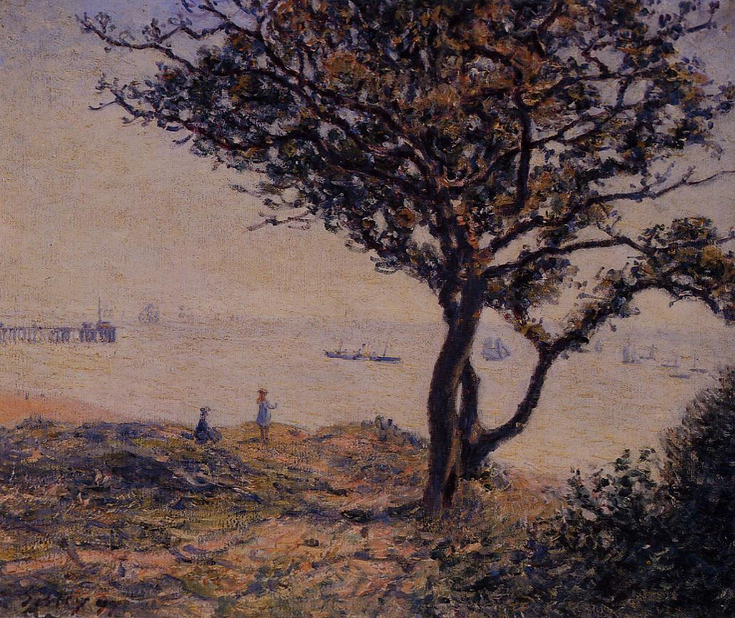 A Cardiff Shipping Lane  1897   Alfred Sisley   Oil Painting