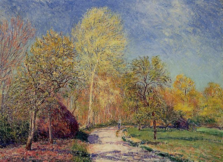 A May Morning in Moret  1886 | Alfred Sisley | Oil Painting