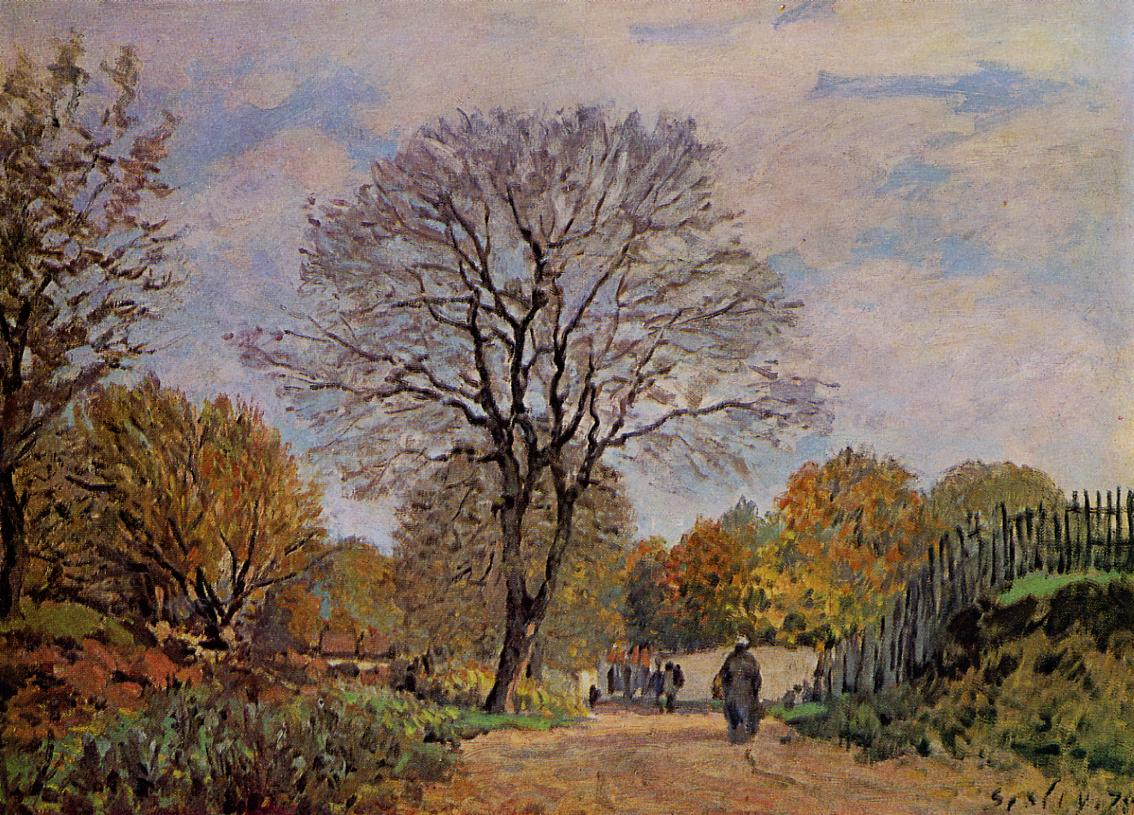 A Road in Seine-et-Marne  1875 | Alfred Sisley | Oil Painting