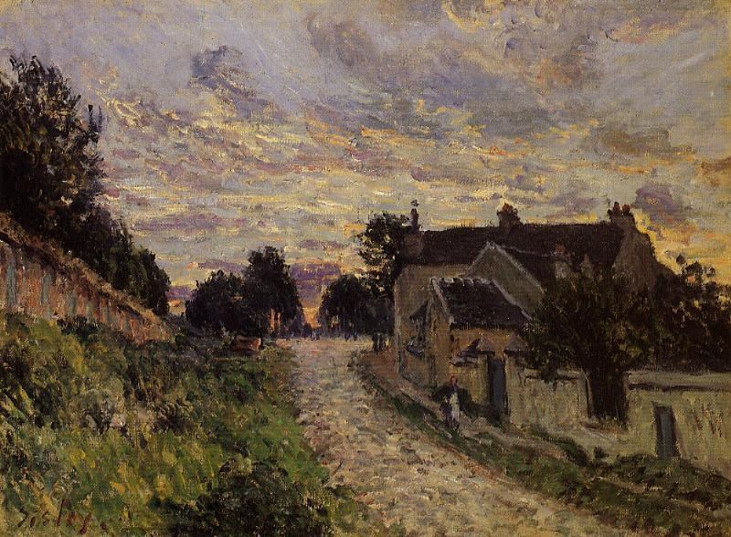 A Small Street in Louveciennes  1876 | Alfred Sisley | Oil Painting