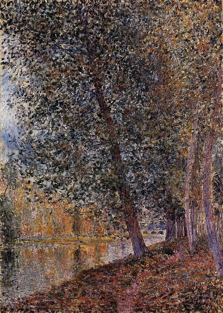Banks of the Loing Autumn  1880 | Alfred Sisley | Oil Painting