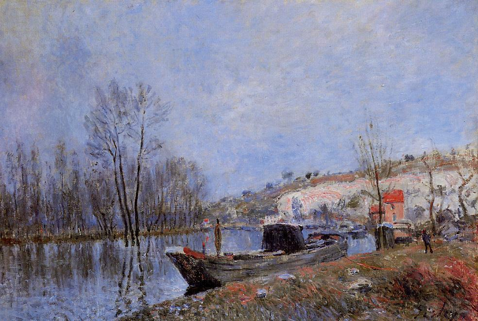 Banks of the Loing towards Moret  1883 | Alfred Sisley | Oil Painting