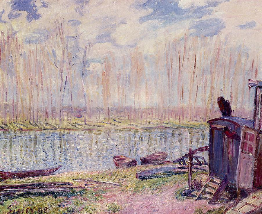 Banks of the Loing  1890 | Alfred Sisley | Oil Painting