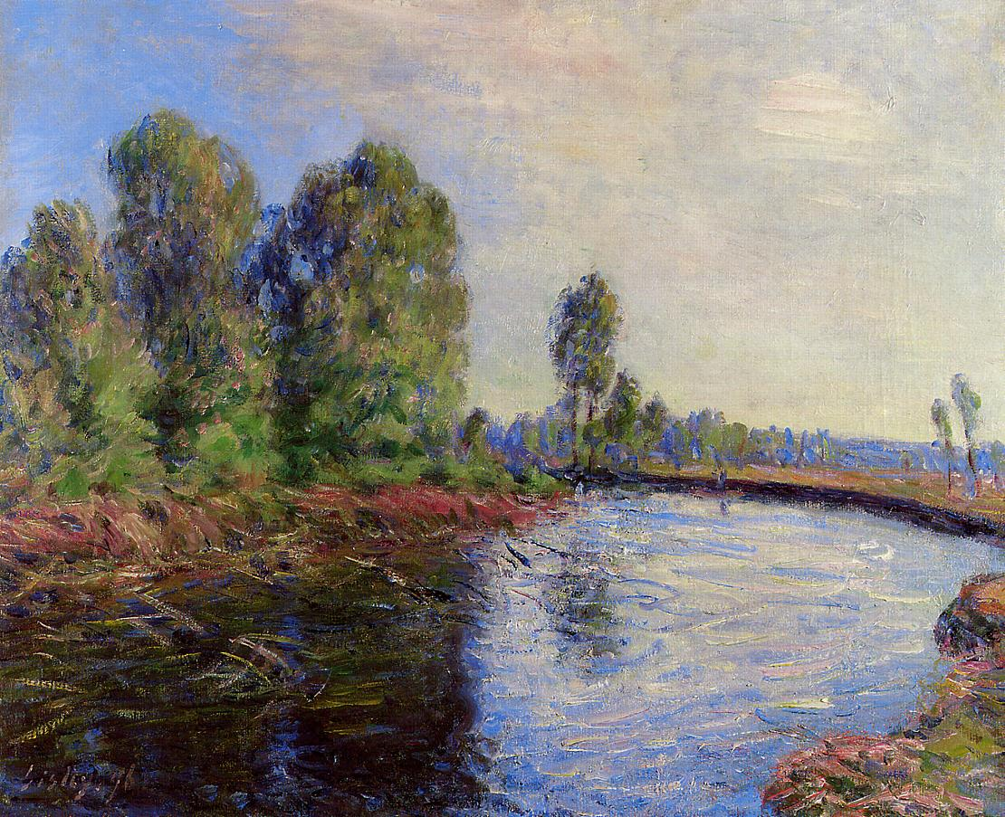 Banks of the Loing  1896 | Alfred Sisley | Oil Painting