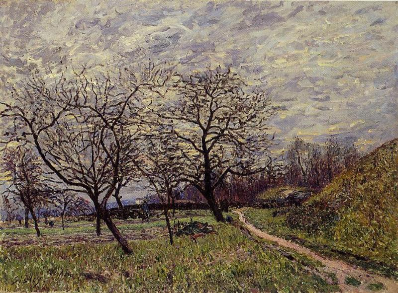 Between Veneux and By-December Morning  1882 | Alfred Sisley | Oil Painting