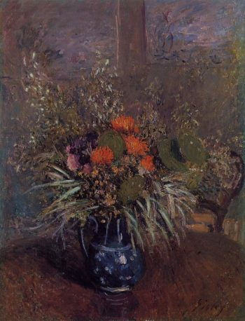 Bouquet of Flowers  1875 | Alfred Sisley | Oil Painting