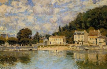 Horses being Watered at Marly-le-Roi  1875 | Alfred Sisley | Oil Painting