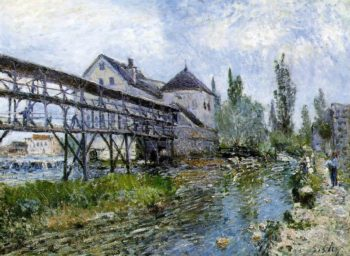 Provencher's Mill at Moret  1883 | Alfred Sisley | Oil Painting