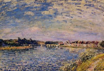 Saint-Mammes - Evening  1885 | Alfred Sisley | Oil Painting