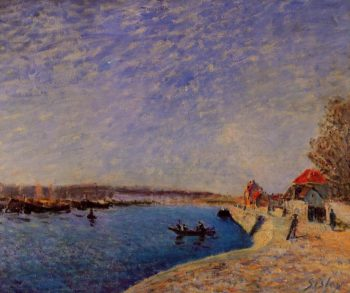 Saint-Mammes and the Banks of the Loing  1885 | Alfred Sisley | Oil Painting