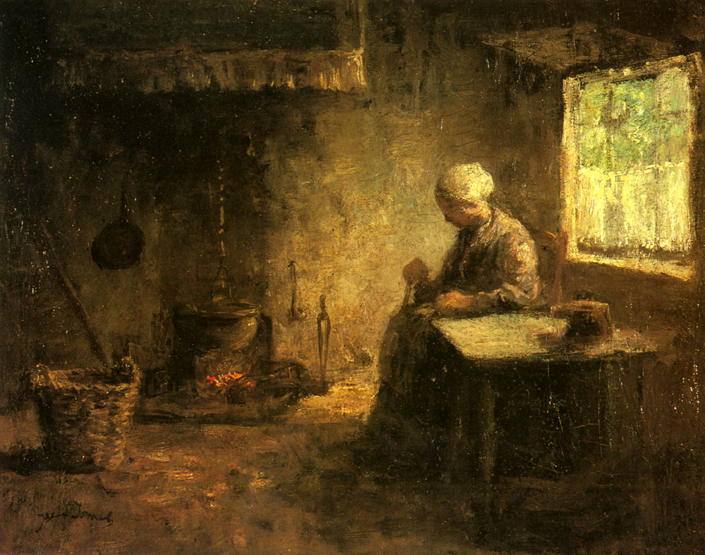 Peasant Woman By A Hearth | Jozef Israels | Oil Painting