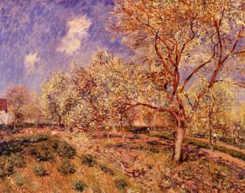 Spring at Veneux  1880 | Alfred Sisley | Oil Painting
