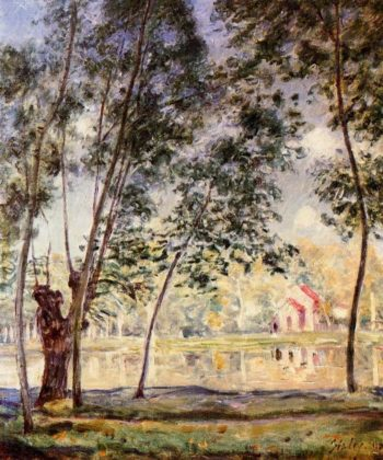 Sunny Afternoon - Willows by the Loing  1890 | Alfred Sisley | Oil Painting