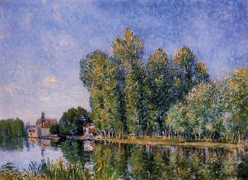 The Loing at Moret  1886 | Alfred Sisley | Oil Painting