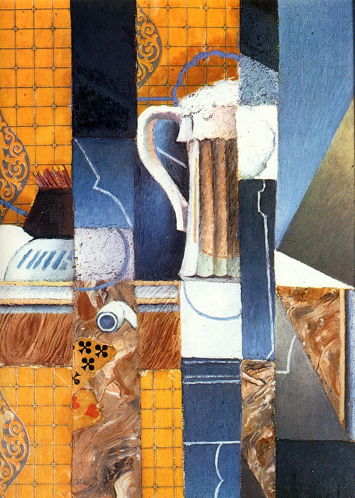 Beer Glass and Cards 1913 | Juan Gris | Oil Painting