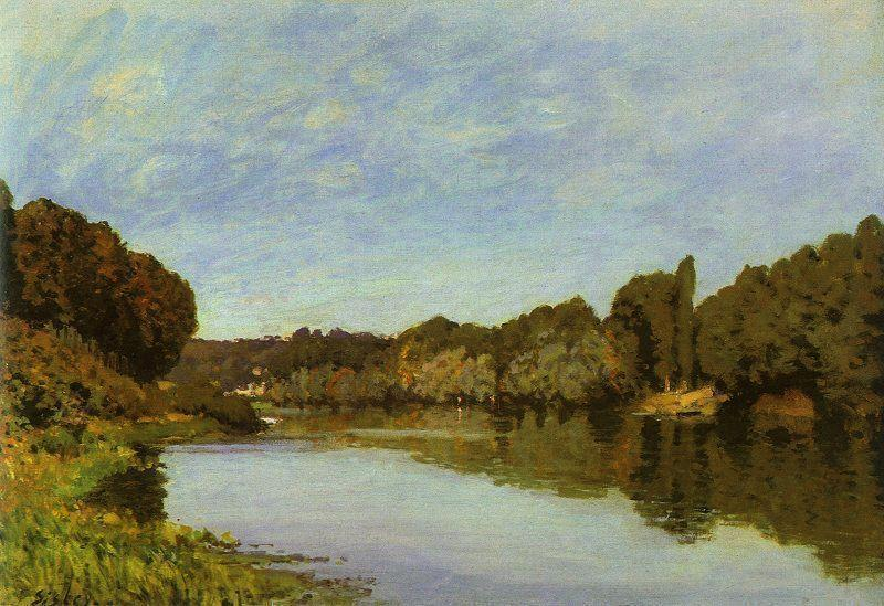 The Seine at Bougival1  1873 | Alfred Sisley | Oil Painting