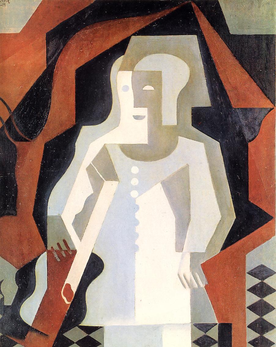 Clown 1 1919 | Juan Gris | Oil Painting