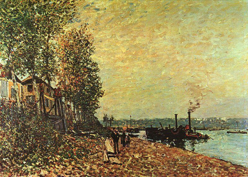 The Tugboat  1883 | Alfred Sisley | Oil Painting