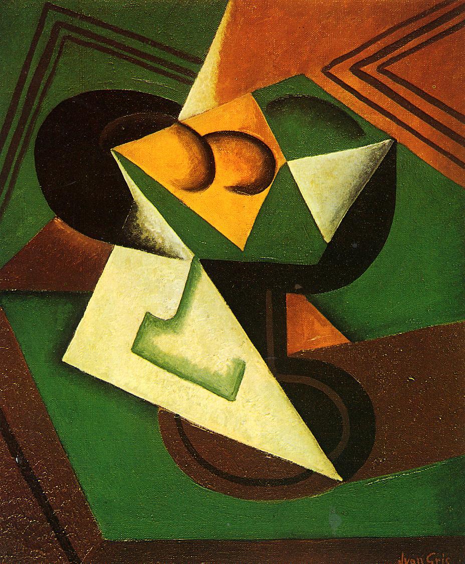 Fruit Bowl and Fruit 1916 | Juan Gris | Oil Painting