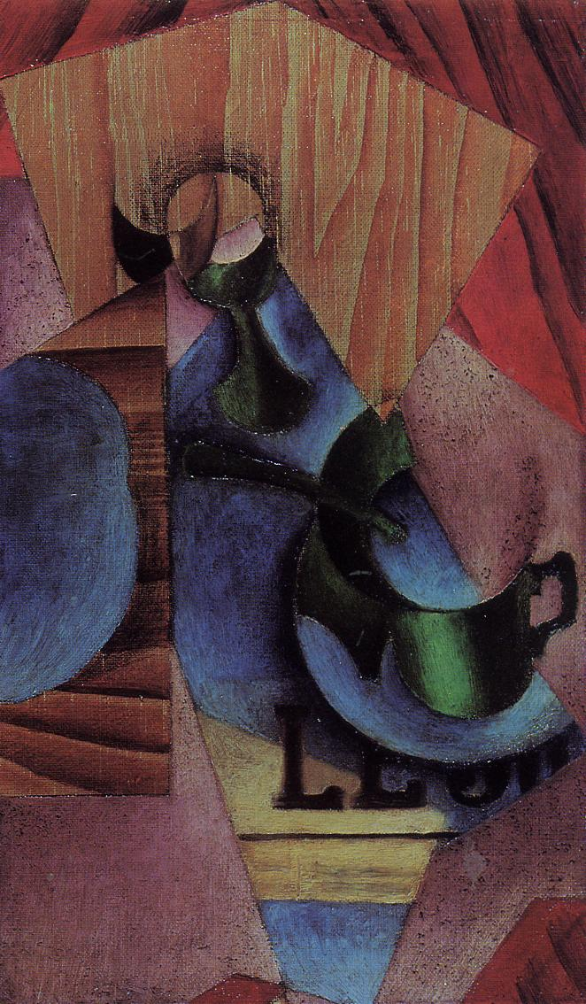 Glass Cup and Newspaper 1913 | Juan Gris | Oil Painting