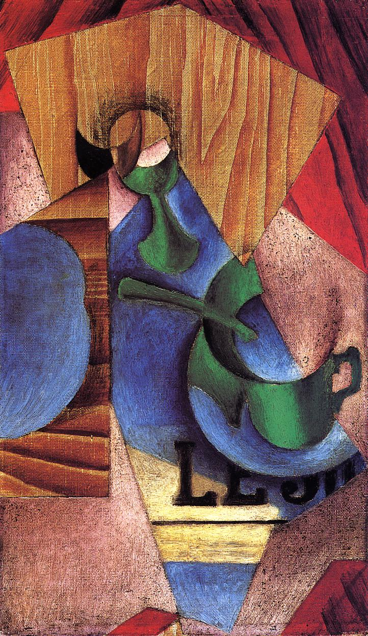 Glass Cup and Newspaper 2 1913 | Juan Gris | Oil Painting