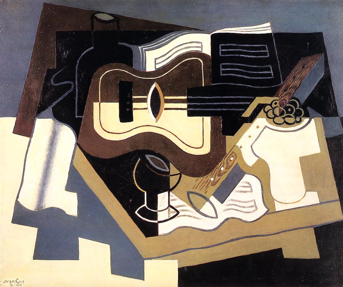 Guitar with Clarinet 1920 | Juan Gris | Oil Painting
