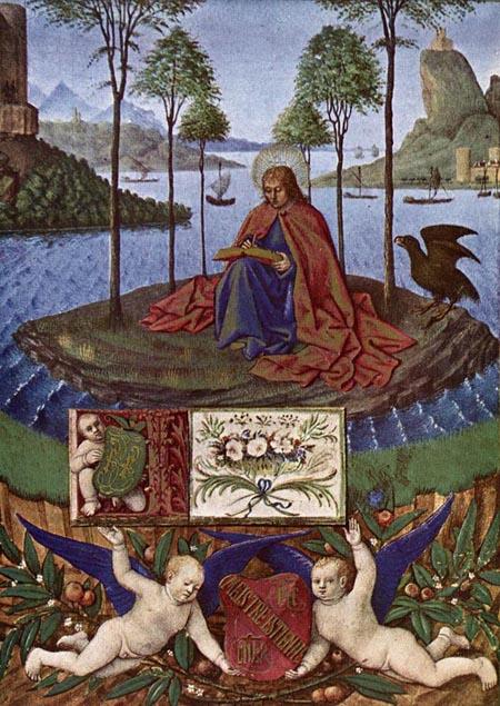 St John at Patmos 1452 1460 | Jean Fouquet | Oil Painting