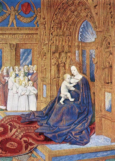 The Madonna before the Cathedral 1452 1460 | Jean Fouquet | Oil Painting