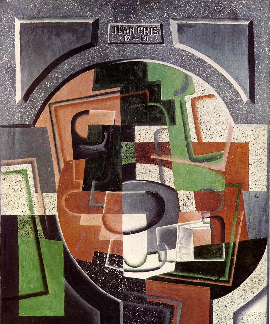 Still Life on Plaque 1917 | Juan Gris | Oil Painting