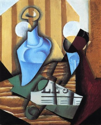 Still Life with Bottle and Glass 1914 | Juan Gris | Oil Painting