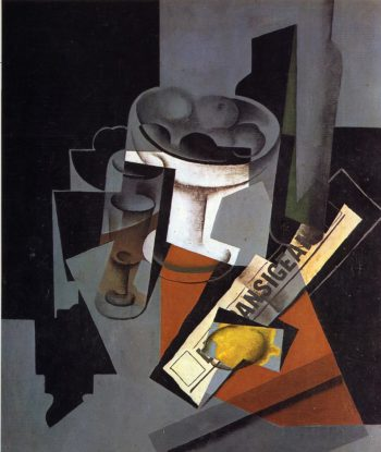 Still Life with Newspaper 1916 | Juan Gris | Oil Painting