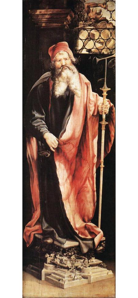 St Anthony the Hermit 1515   Matthias Grunewald   Oil Painting