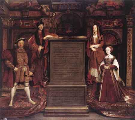 Henry VII Elizabeth of York Henry VIII and Jane Seymour 1667 | Remigius van Leemput | Oil Painting