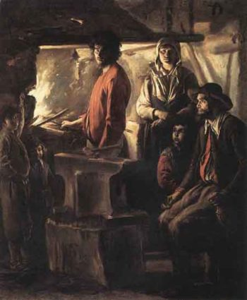 Blacksmith at His Forge | Louis Le Nain | Oil Painting