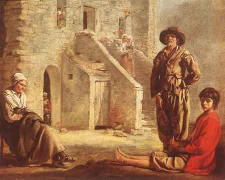 Le_Nain_Louis_Peasants_At_Their_Cottage_Door | Louis Le Nain | Oil Painting