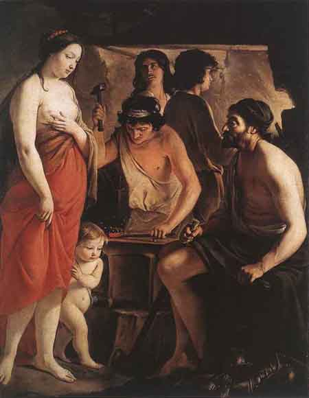 Venus at the Forge of Vulcan 1641 | Louis Le Nain | Oil Painting