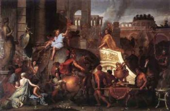 Entry of Alexander into Babylon 1664 | Charles Le Brun | Oil Painting