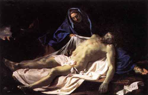 Pieta 1643 1645 | Charles Le Brun | Oil Painting