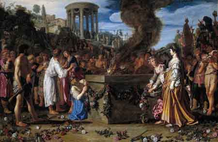 Orestes and Pylades Disputing at the Altar 1614 | Pieter Lastman | Oil Painting
