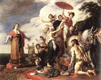 Odysseus and Nausicaa 1619 | Pieter Lastman | Oil Painting