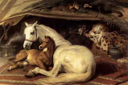 The Arab Tent 1866 | Sir Edwin Henry Landseer | Oil Painting
