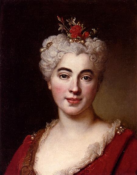 Portrait Of Elisabeth Marguerite The Artists Daughter   Nicolas De Largilliere   Oil Painting
